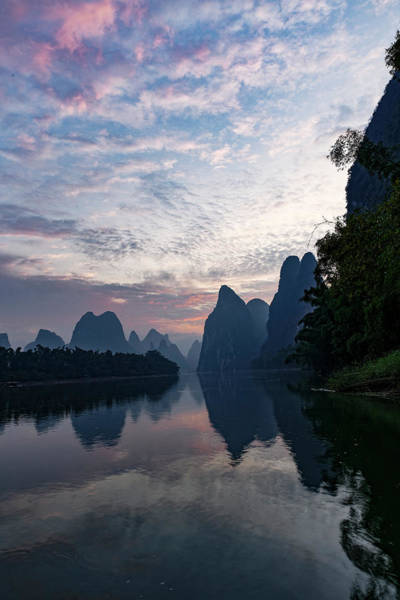Wall Art - Photograph - Li River At Sunrise, Near Xingping by Adam Jones