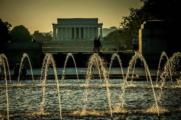 Photograph - Lincoln Memoril At Sunset In Washington Dc by Alex Grichenko