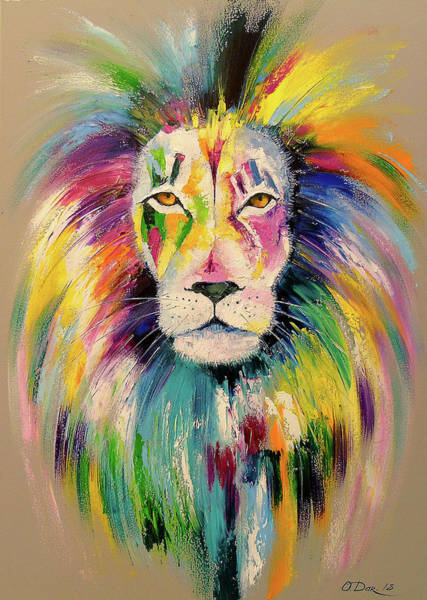 Wall Art - Painting - Lion by Olha Darchuk