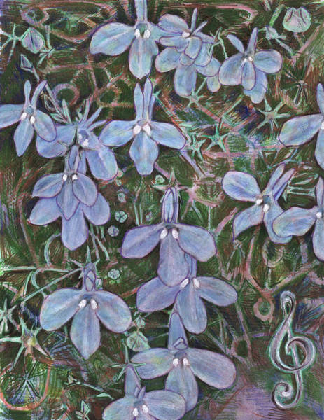 Painting - Lobelia by Jeremy Robinson