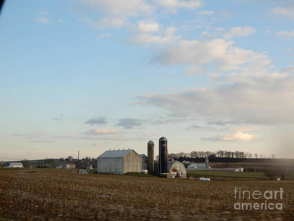 Photograph - Looking Out On An Amish Farm by Christine Clark
