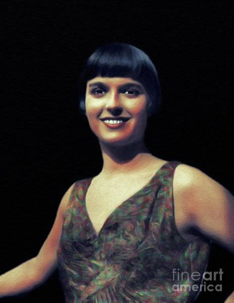 Wall Art - Painting - Louise Brooks, Vintage Actress by John Springfield