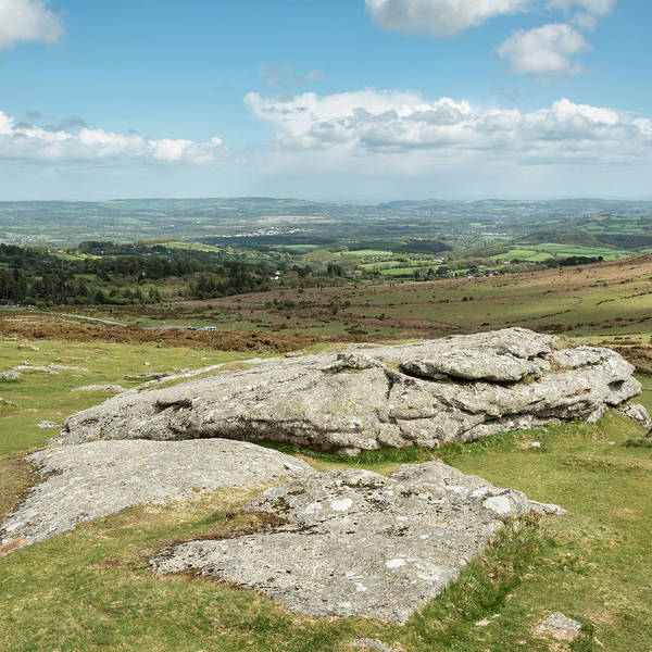 Wall Art - Photograph - Lovely Spring Landscape Image Of View From Haytor In Dartmoor Na by Matthew Gibson
