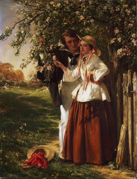 Wall Art - Painting - Lovers Under A Blossom Tree by John Callcott Horsley