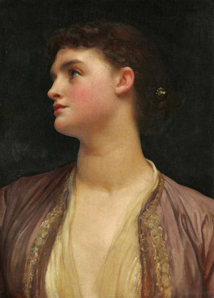 Wall Art - Painting - Lucia by Frederic Leighton