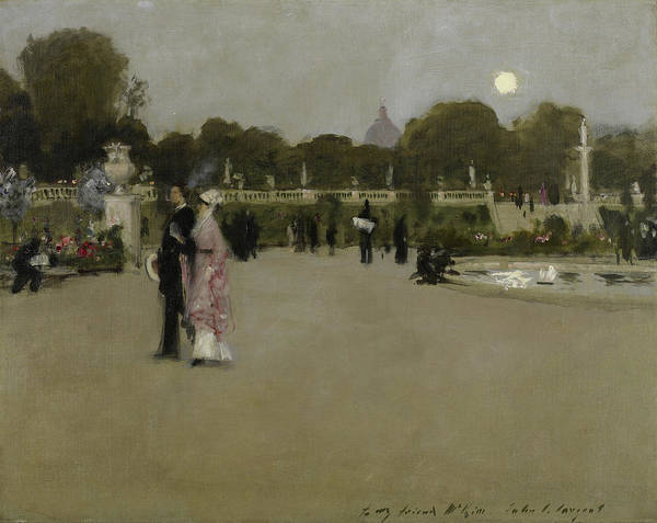Wall Art - Painting - Luxembourg Gardens At Twilight by John Singer Sargent