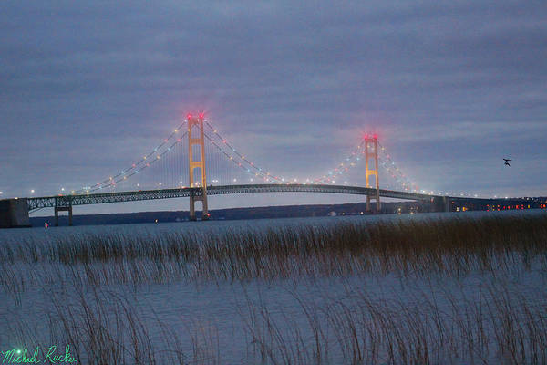 Michilimackinac Wall Art - Photograph - Mackinac Bridge by Michael Rucker