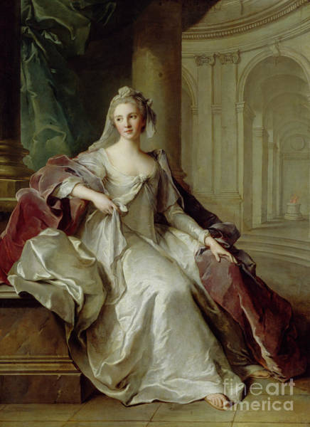 Wall Art - Painting - Madame Henriette De France As A Vestal Virgin by Jean-Marc Nattier