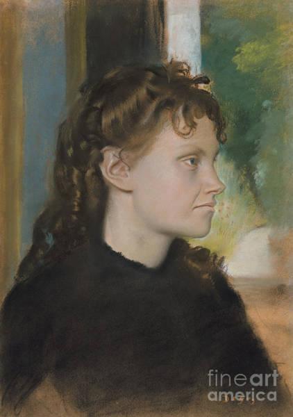 Wall Art - Pastel - Madame Theodore Gobillard by Edgar Degas