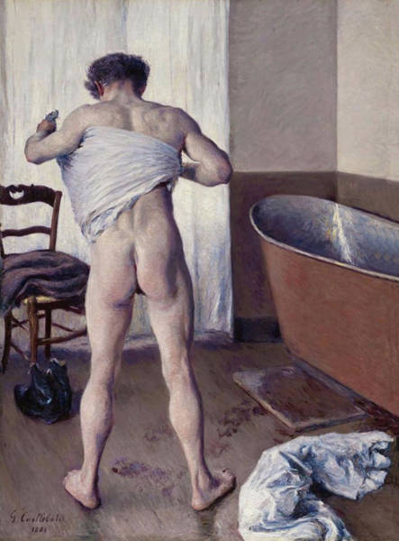 Painting - Man At His Bath by Gustave Caillebotte