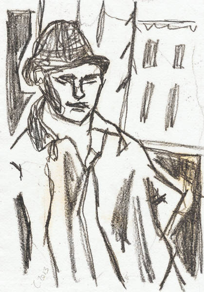 Drawing - Man In A Hat by Artist Dot