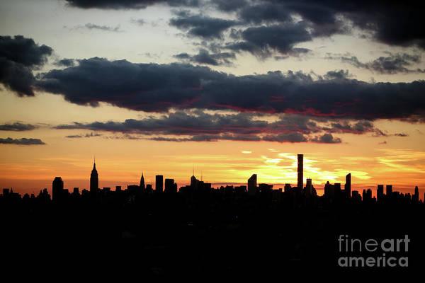 Wall Art - Photograph - Manhattan Skyline Sunset, New York, Usa by Tim Clayton - Corbis