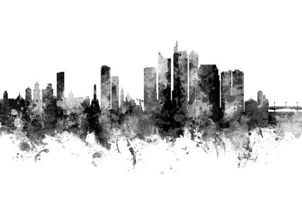 Wall Art - Digital Art - Manila Philippines Skyline by Michael Tompsett