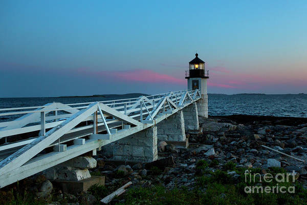 Marshall Point Lighthouse Photograph - Marshall Point Lighthouse At Dusk by Diane Diederich
