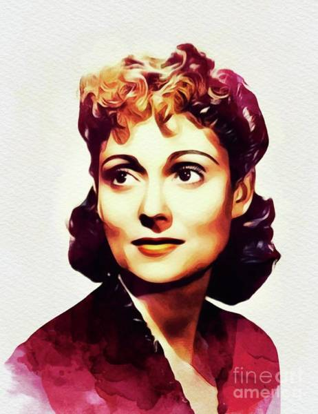 Wall Art - Painting - Martha Scott, Vintage Actress by John Springfield