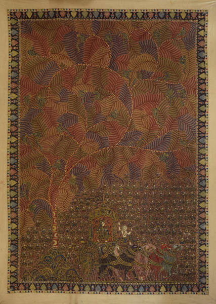 Kalamkari Painting - Mata Ki Pachedi by Kalamkari
