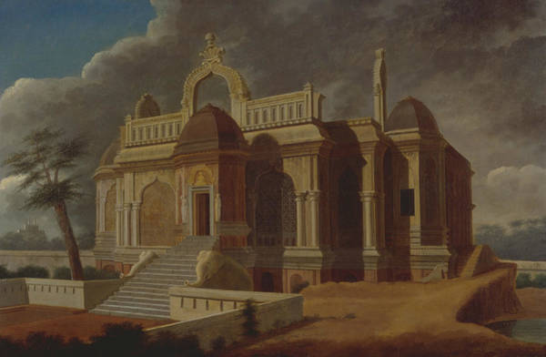 Ward Painting - Mausoleum With Stone Elephants by Francis Swain Ward