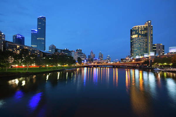 Southbank Photograph - Melbourne Skyline by Andrew Watson
