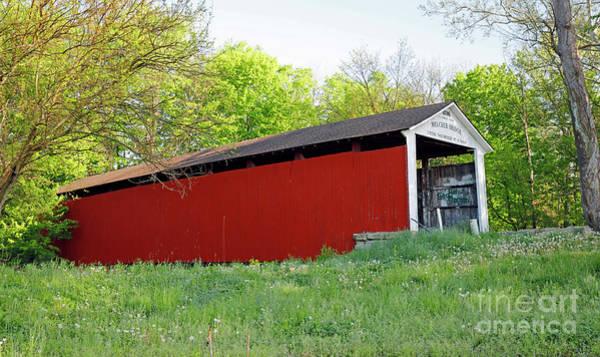 Rockville Photograph - Melcher Covered Bridge, Indiana by Steve Gass