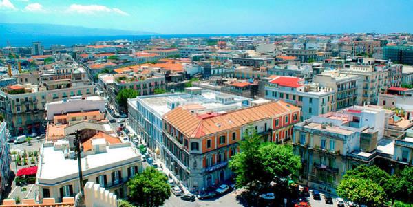 Photograph - Messina Cityscape Skyline, Sicily, Italy by A Gurmankin