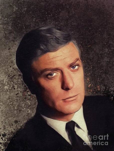 Wall Art - Painting - Michael Caine, Actor by John Springfield