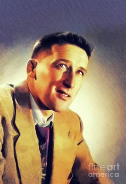 Wall Art - Painting - Mickey Spillane, Literary Legend by John Springfield