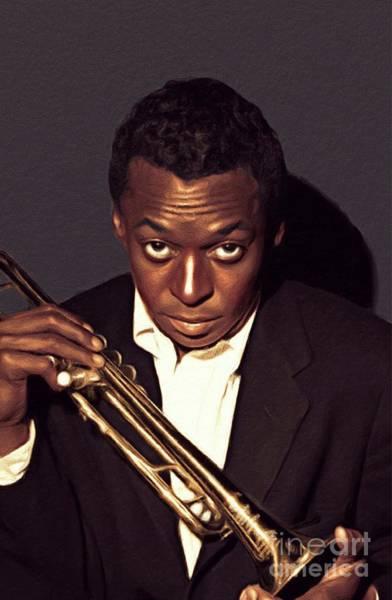 Miles Davis Painting - Miles Davis, Music Legend by John Springfield