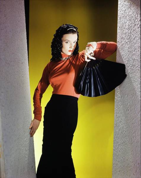 Photograph - Model In A John Frederics Ensemble by Horst P. Horst