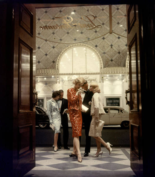 Photograph - Models At The Lunt-fontanne Theater by Gordon Parks