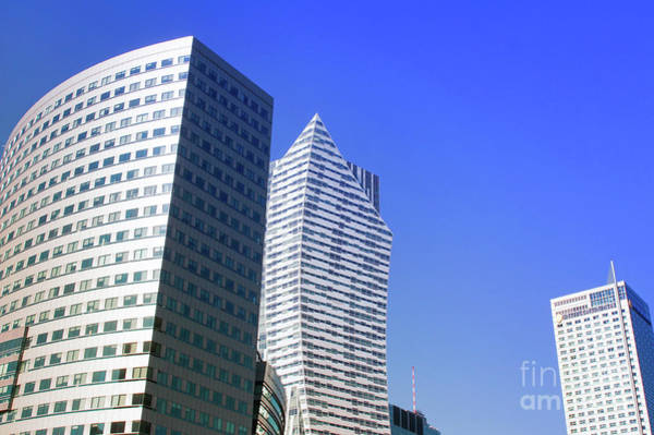 Wall Art - Photograph - Modern Buildings In Warsaw by Tom Gowanlock