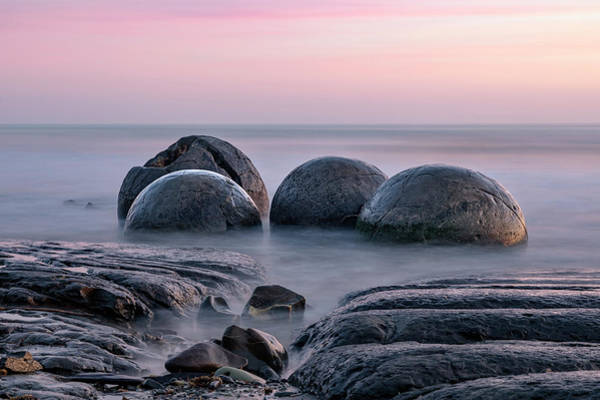 Te Waipounamu Wall Art - Photograph - Moeraki Boulders - New Zealand by Joana Kruse