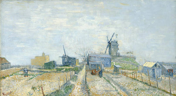 Rural Life Wall Art - Painting - Montmartre - Windmills And Allotments by Vincent Van Gogh