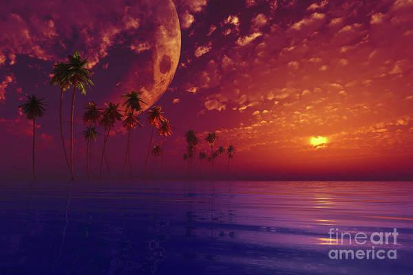 Wall Art - Photograph - Moon Over Island  by Aleksey Tugolukov