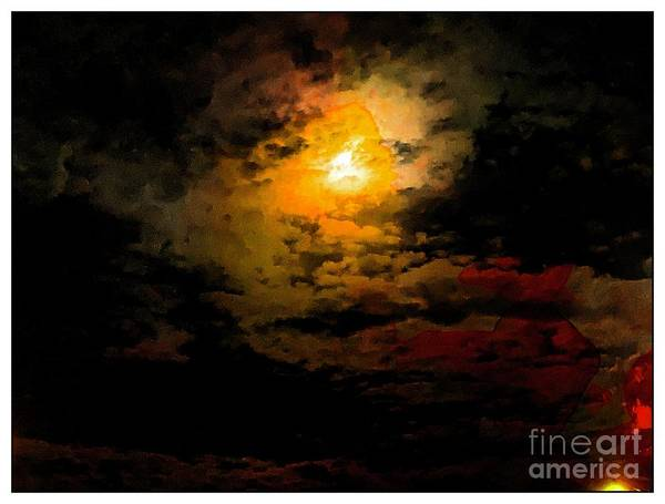 Photograph - Moon Rising by Leslie Hunziker