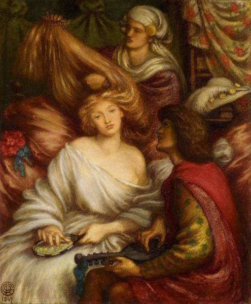 Wall Art - Painting - Morning Music by Dante Gabriel Rossetti