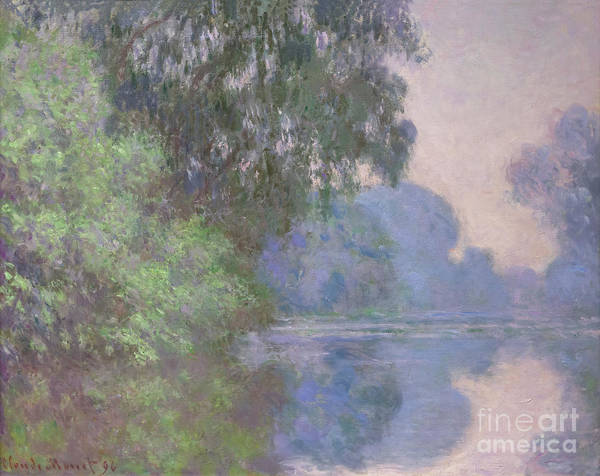 Painting - Morning On The Seine Near Giverny 1896 by Claude Monet