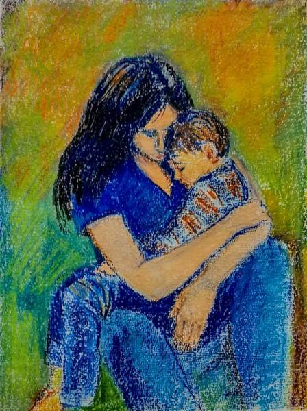 Wall Art - Drawing - Mother by Asha Sudhaker Shenoy