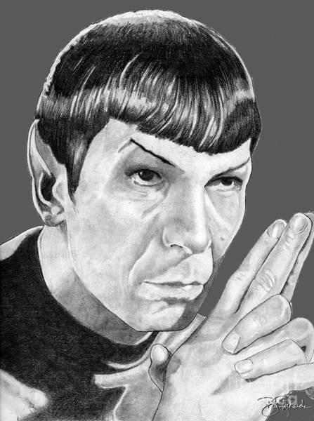 Drawing - Mr. Spock by Bill Richards