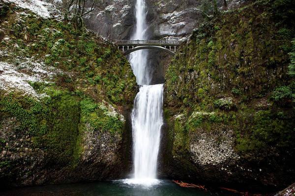Jordan Pond Photograph - Multnomah Falls In The Columbia Gorge by Jordan Siemens