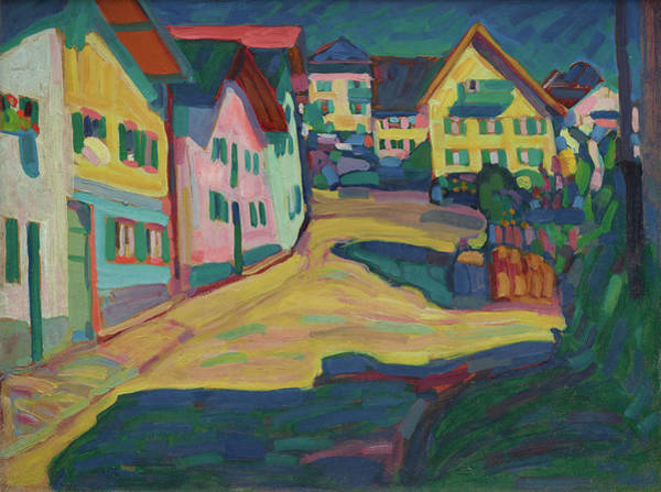 Constructivism Painting - Murnau, Burggrabenstrasse 1 by Wassily Kandinsky