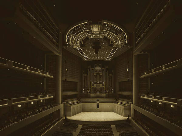 Center Stage Photograph - Myerson Symphony Center Auditorium by Mountain Dreams
