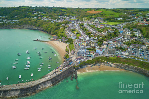 Photograph - New Quay, Wales From The Air by Keith Morris