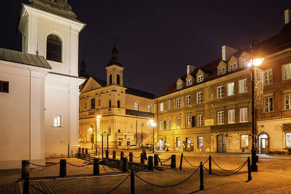 Wall Art - Photograph - New Town In Warsaw At Night by Artur Bogacki