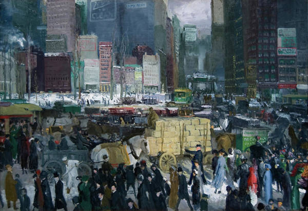 Wall Art - Painting - New York, 1911 by George Wesley Bellows