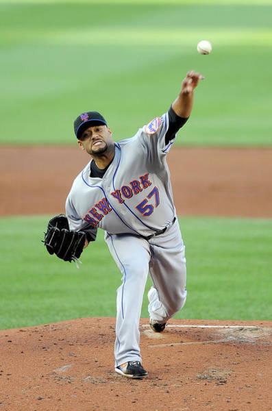 Baseball Pitcher Photograph - New York Mets V Washington Nationals by Greg Fiume