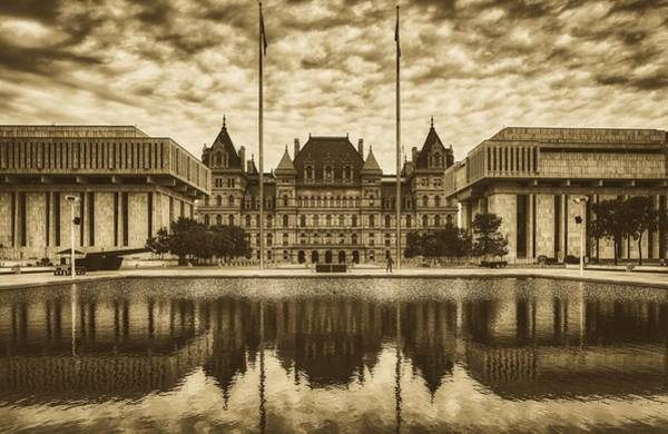 Wall Art - Photograph - New York State Capitol And Empire Plazq by Library Of Congress