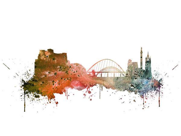 Newcastle Digital Art - Newcastle by Erzebet S