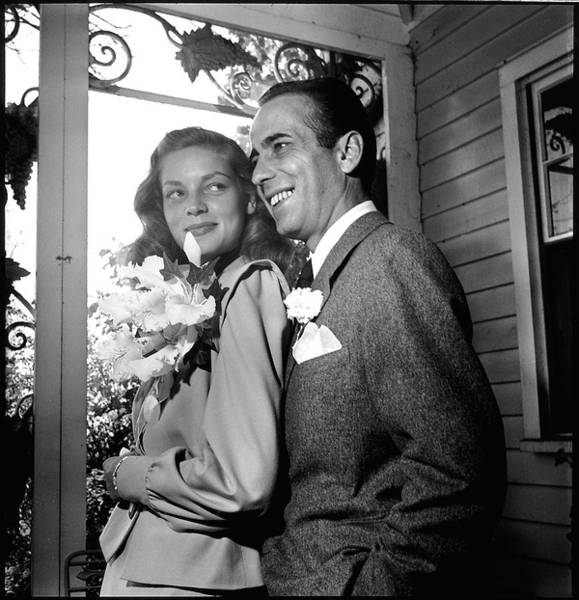 Receptions Photograph - Newlywed Actors Humphrey Bogart And by Ed Clark