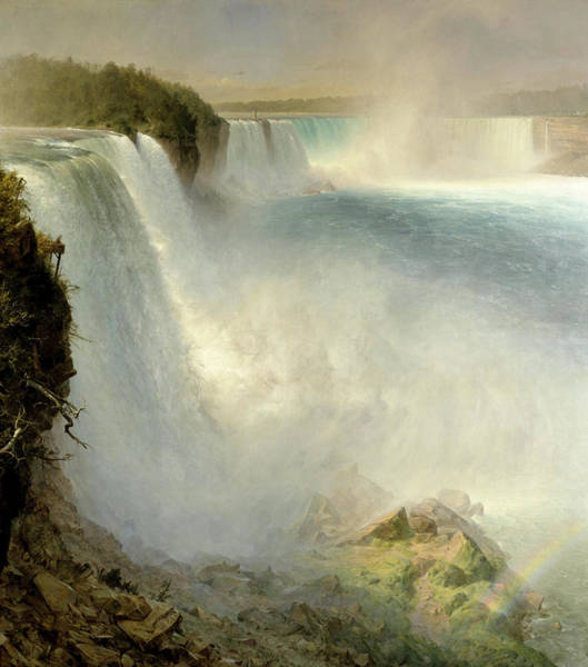Wall Art - Painting - Niagara Falls, From The American Side by Frederic Edwin Church