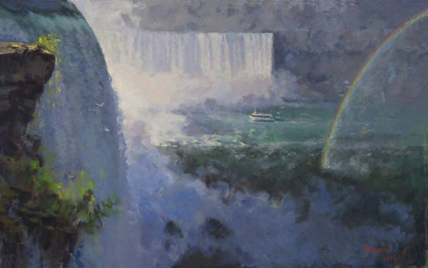Wall Art - Painting - Niagara Falls Ny by Ylli Haruni